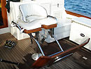 Fighting chair on MV Gecko.